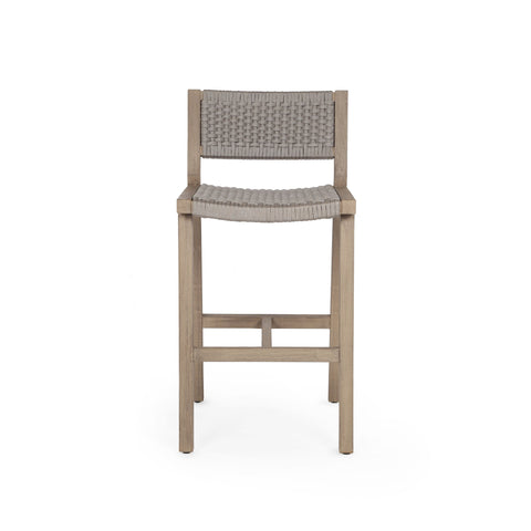 Delano Outdoor Bar Stool in Washed Brown by BD Studio