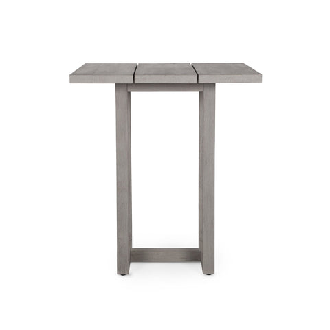 Stapleton Square Outdoor Bar Table in Weathered Grey