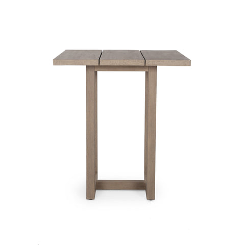 Stapleton Square Outdoor Bar Table in Washed Brown