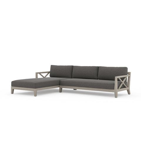 Huntington Outdoor 2 Piece Left Arm Sectional Weathered Grey