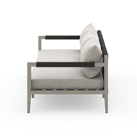 Sherwood Outdoor 3 Seater Sofa In Weathered Grey