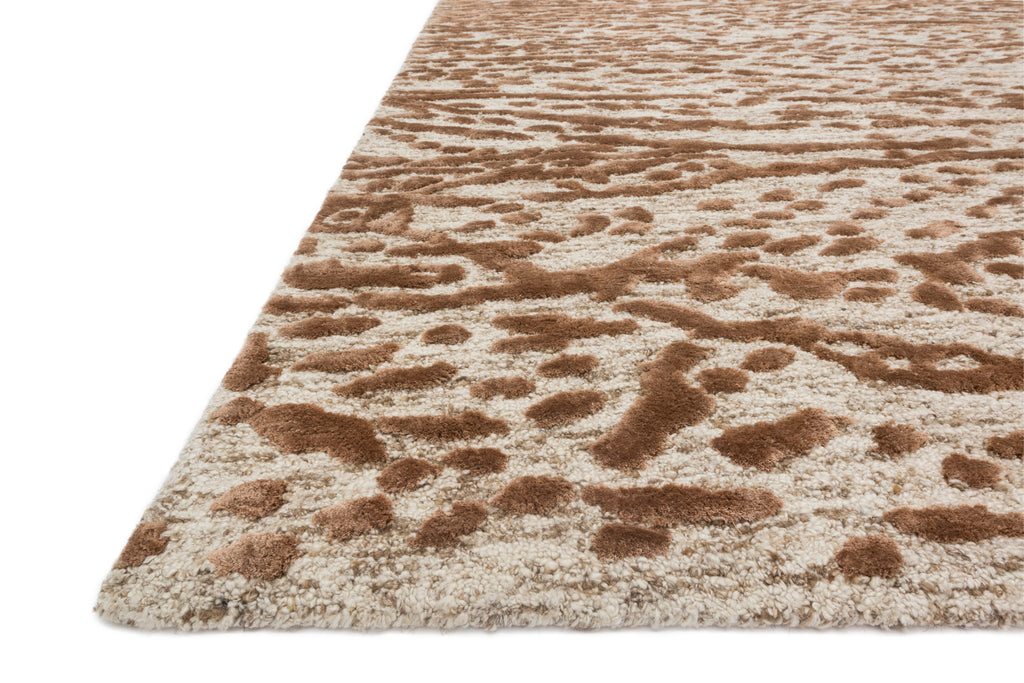 Juneau Rug in Oatmeal / Terracotta by Loloi