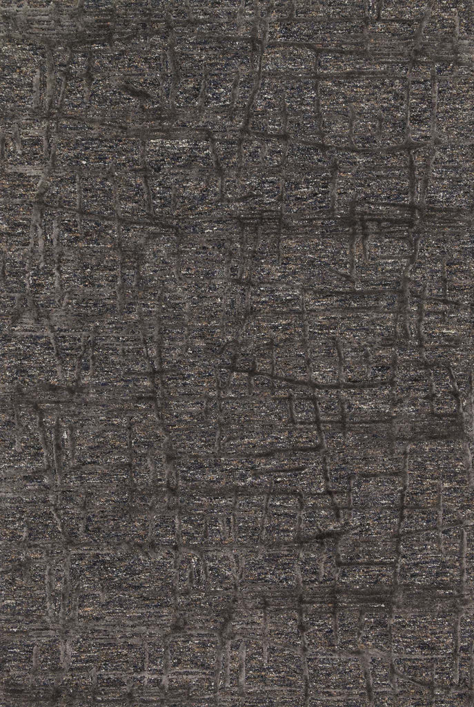 Juneau Rug in Charcoal & Charcoal by Loloi