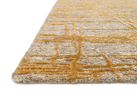 Juneau Rug in Natural & Gold by Loloi