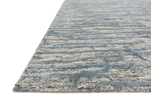Juneau Rug in Grey / Blue by Loloi