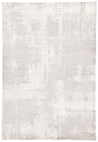 Arabella Handmade Abstract Light Gray & White Area Rug