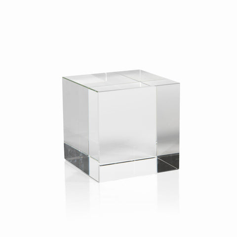 Jacy Large Crystal Glass Straight Cube