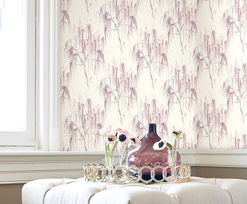 Jade Floral Wallpaper by Carl Robinson for Seabrook Wallcoverings