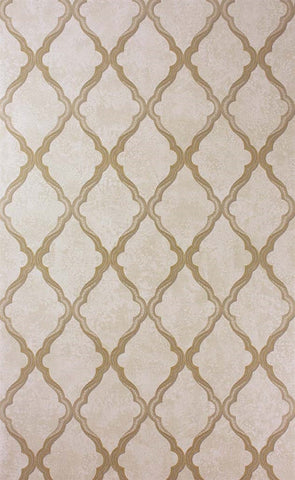 Jali Trellis Wallpaper in Gold and Gilver by Matthew Williamson for Osborne & Little