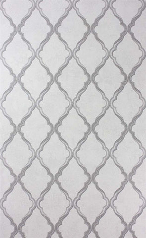 Jali Trellis Wallpaper in Silver by Matthew Williamson for Osborne & Little