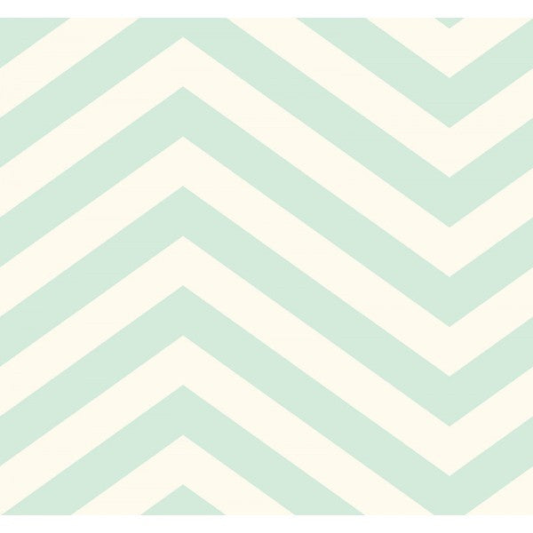 Sample Jamaica Chevron Wallpaper in Aqua from the Tortuga Collection by Seabrook Wallcoverings
