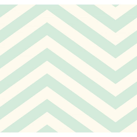 Jamaica Chevron Wallpaper in Aqua from the Tortuga Collection by Seabrook Wallcoverings