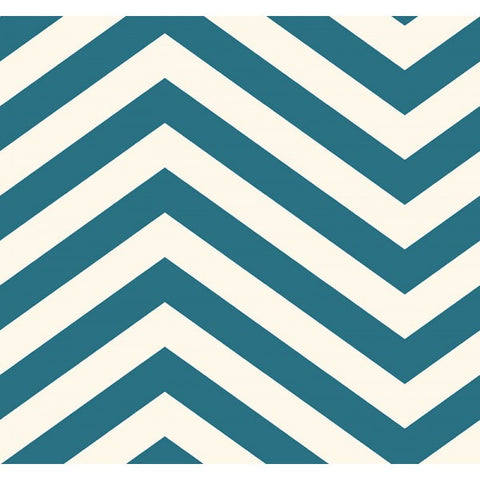 Jamaica Chevron Wallpaper in Blue from the Tortuga Collection by Seabrook Wallcoverings