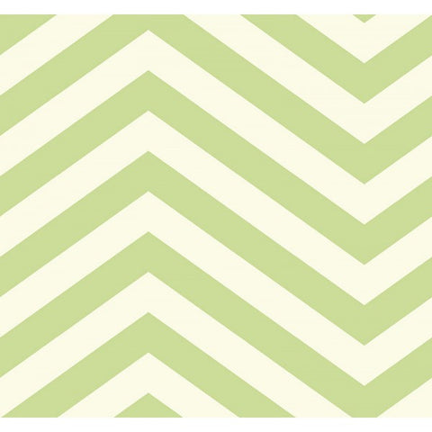 Jamaica Chevron Wallpaper in Green from the Tortuga Collection by Seabrook Wallcoverings
