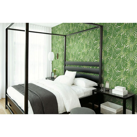 Jamaica Wallpaper in Green from the Tortuga Collection by Seabrook Wallcoverings