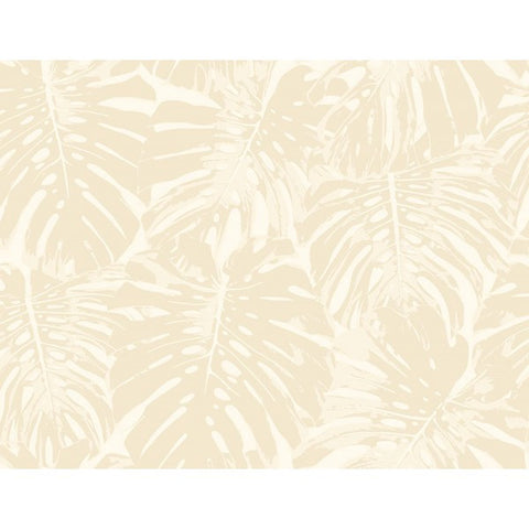 Jamaica Wallpaper in Beige and Ivory from the Tortuga Collection by Seabrook Wallcoverings
