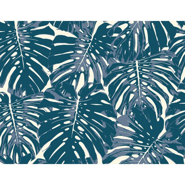 Jamaica Wallpaper in Blue from the Tortuga Collection by Seabrook Wallcoverings