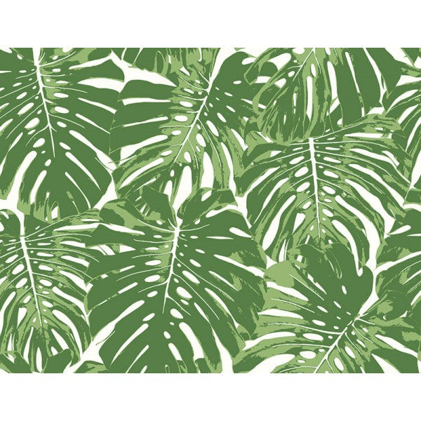 Sample Jamaica Wallpaper in Green from the Tortuga Collection by Seabrook Wallcoverings