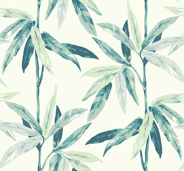 Janson Floral Wallpaper in Ivory and Soft Blues by Carl Robinson for Seabrook Wallcoverings