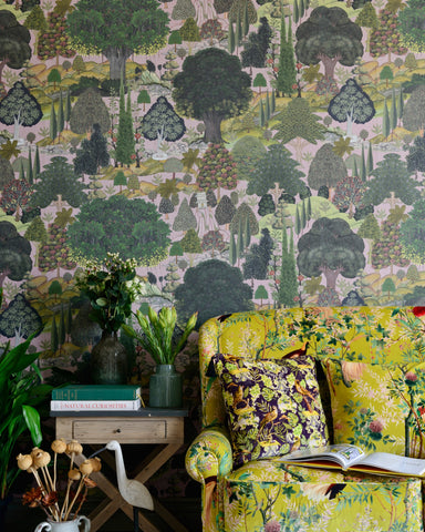 Jardin Sauvage Wallpaper in Green and Grey from the Wallpaper Compendium Collection by Mind the Gap