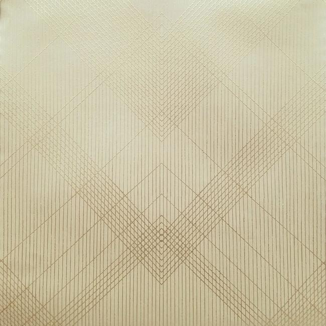 Sample Jazz Age Wallpaper in Beige and Gold from the Deco Collection by Antonina Vella for York Wallcoverings