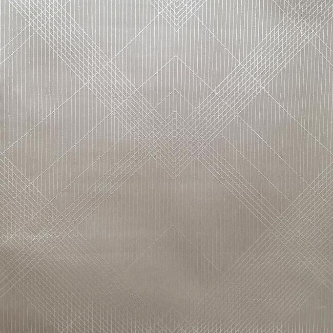 Sample Jazz Age Wallpaper in Grey and Metallic from the Deco Collection by Antonina Vella for York Wallcoverings