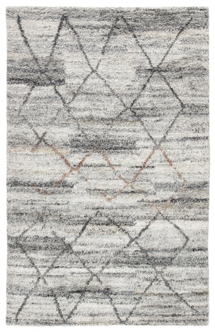 Kenzi Hand-Knotted Trellis Gray & Brown Area Rug