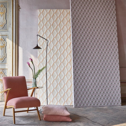 Jourdain Wallpaper in Fresco from the Mandora Collection by Designers Guild