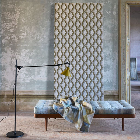 Jourdain Wallpaper in Linen from the Mandora Collection by Designers Guild
