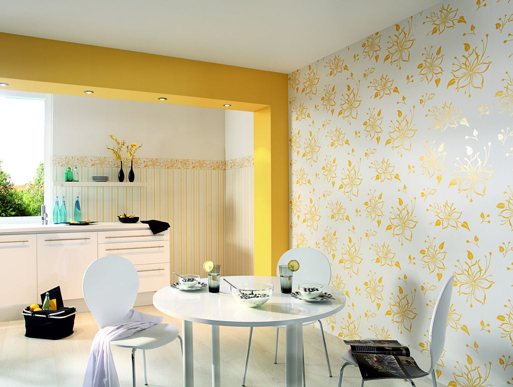 Joyful Floral Wallpaper design by BD Wall