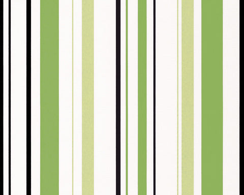 Joyful Stripes Wallpaper in Green design by BD Wall