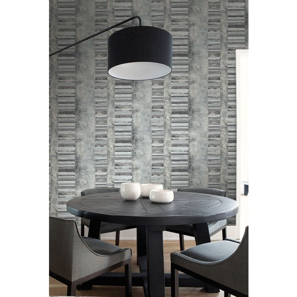 Judson Wallpaper from the Metalworks Collection by Seabrook Wallcoverings