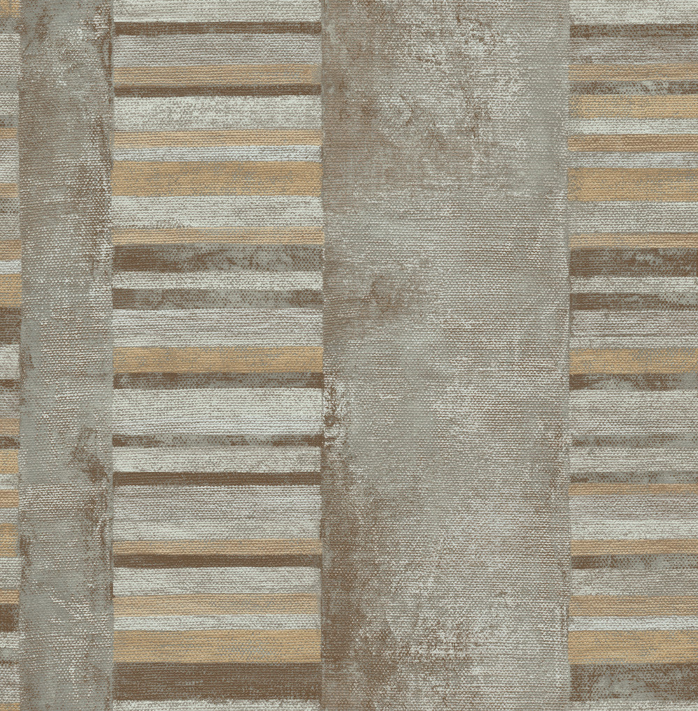 Judson Wallpaper in Brown and Tan from the Metalworks Collection by Seabrook Wallcoverings