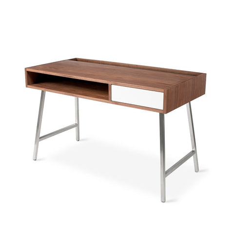 Junction Desk in Walnut and White design by Gus Modern
