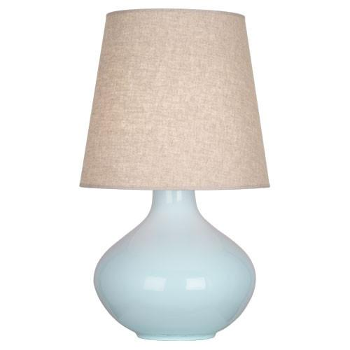 June Table Lamp (Multiple Colors) with Buff Linen Shade by Robert Abbey