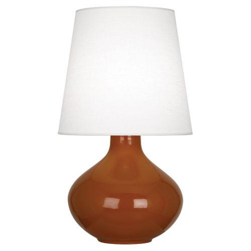 June Table Lamp (Multiple Colors) with Oyster Linen Shade by Robert Abbey