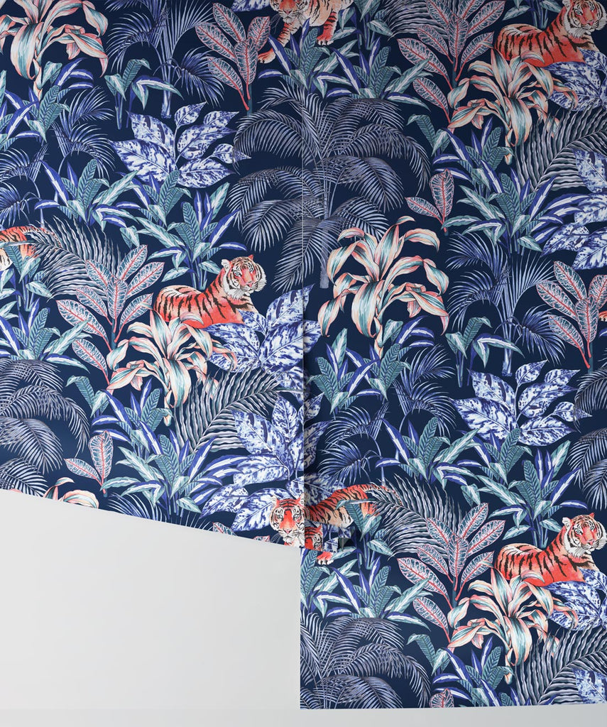 Jungle Tiger Wallpaper from the Wallpaper Republic Collection by Milton & King