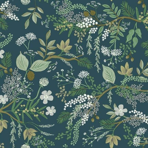 Juniper Forest Wallpaper in Pine from the Rifle Paper Co. Collection by York Wallcoverings