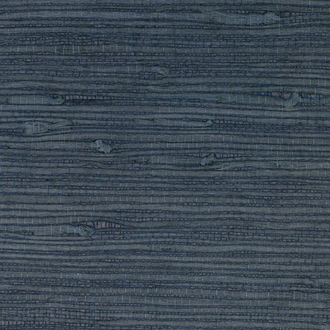 Sample Jute Grasscloth Wallpaper in Aegean Blue from the Luxe Retreat Collection by Seabrook Wallcoverings