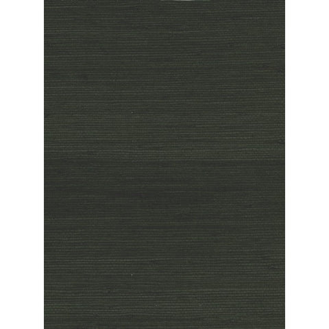 Jute Grasscloth Wallpaper in Black from the Natural Resource Collection by Seabrook Wallcoverings