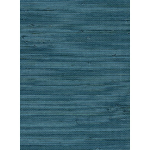 Sample Jute Grasscloth Wallpaper in Blue from the Natural Resource Collection by Seabrook Wallcoverings