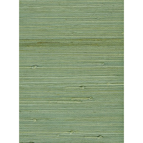 Sample Jute Grasscloth Wallpaper in Green from the Natural Resource Collection by Seabrook Wallcoverings