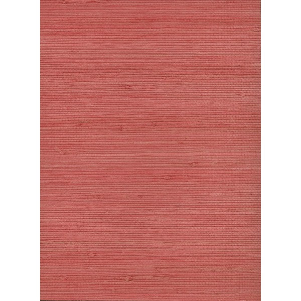 Jute Grasscloth Wallpaper in Pink from the Natural Resource Collection by Seabrook Wallcoverings