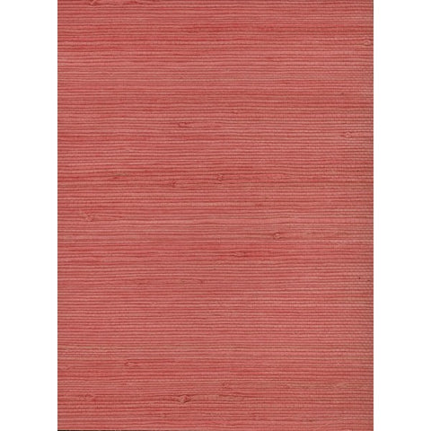 Sample Jute Grasscloth Wallpaper in Pink from the Natural Resource Collection by Seabrook Wallcoverings