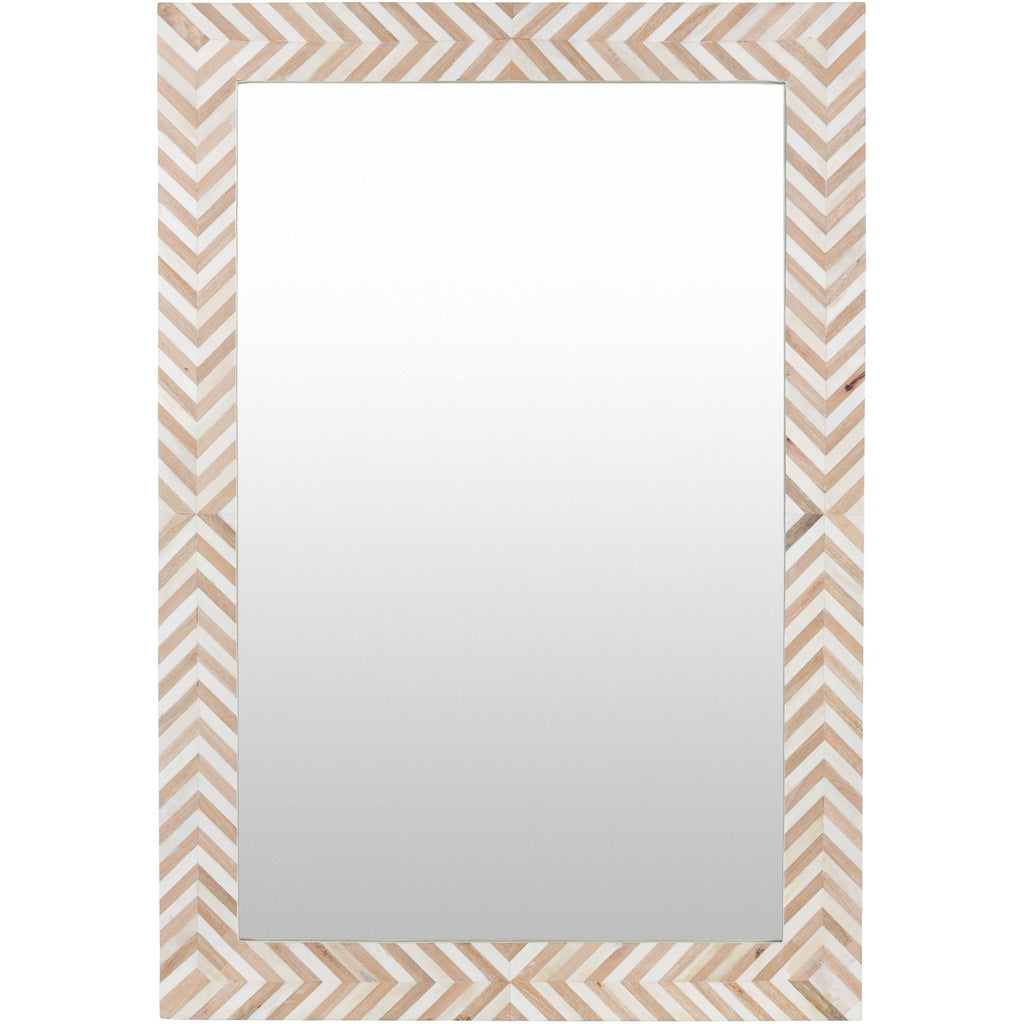 Kathryn KAH-001 Rectangular Mirror in Natural by Surya