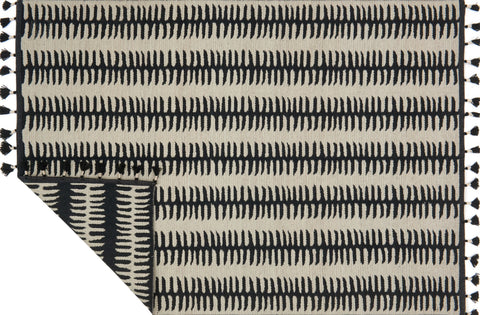 Kahelo Rug in Black & Grey by Justina Blakeney for Loloi