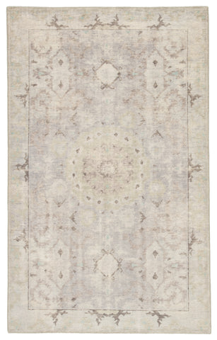 Modify Medallion Rug in Smoke & Bungee Cord design by Jaipur