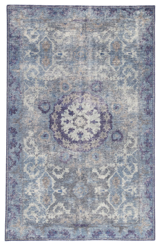 Modify Medallion Rug in Moonlight Blue & Peacoat design by Jaipur Living