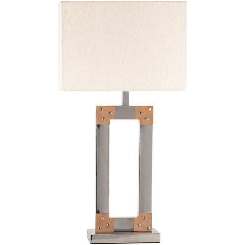Kaison KAO-002 Table Lamp in Nickel Metallic & Natural by Surya