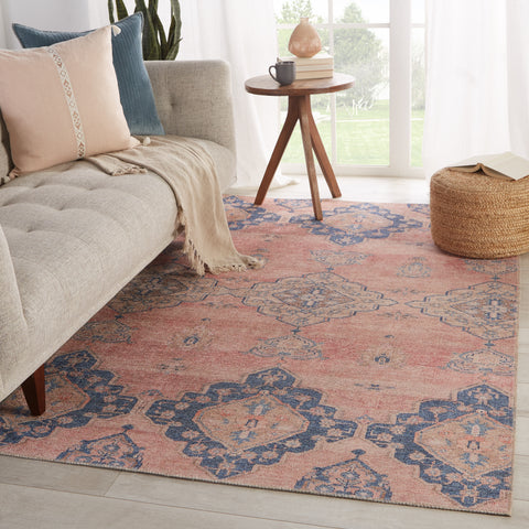 Adalee Medallion Pink & Blue Rug by Jaipur Living